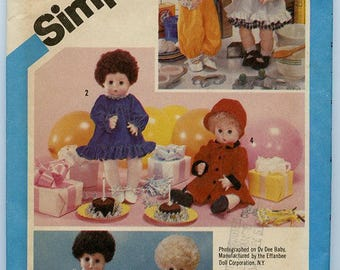 Simplicity Pattern 6481 - Doll clothes for a baby doll