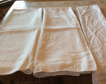 Tablecloths Vintage Linen Value Bundle Three white Tablecloths  - B109