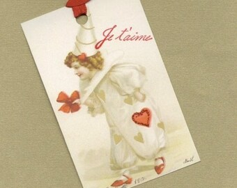 On Sale Je t'aime for Valentine's Day Art Tags