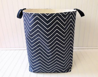 Dorm Decor - Storage Basket - Large Storage Bin - Fabric Storage Bin - Fabric Storage Basket - Canvas Storage Bin