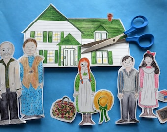 Anne of Green Gables Paper Dolls Coloring Pages Playset Printable