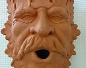 Terracotta Greenman Sconce