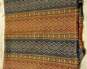 Vintage Woven Blanket Nordic Amana Woolen Mills Bright Warm Color