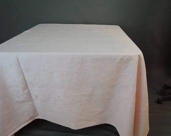 Vintage Tablecloths, 2 Pink Damask Large 86 x 85 inches, Square Simtex