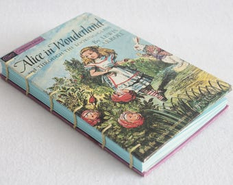 Alice in Wonderland Journal / Vintage Book Journal / Recycled Old Book / Rebound Journal / by PrairiePeasant