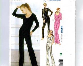 Misses Sewing Pattern Kwik Sew 3052 K3052 Misses Unitards Jumpsuits Dance Wear Spandex Lyrca Size XS S M L XL UNCUT