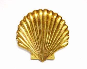 Brass Seashell Shaped Trivet