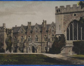 Wells Bishop's Palace England UK Early 1900s Antique Frith's Series Postcard 1917
