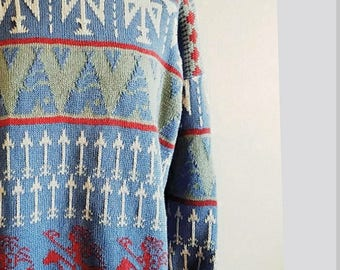 Incredibly Unique Native American Style Cotton Sweater