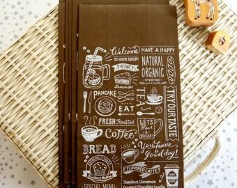 Kawaii Japanese Paper Gusset Wrapping Bag - French Simple Polka Dots