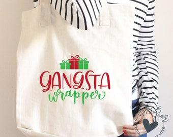Funny Christmas SVG | Gangsta Wrapper | Christmas SVG File | Christmas Cricut SVG | Hollidays svg | Holiday Cricut svg | svg Holiday