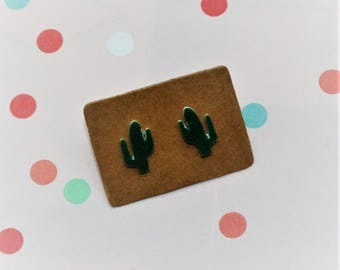 Cactus Earrings, Teeny Tiny Earrings, Plant Jewelry, Cute Earrings