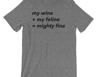 Wine Shirt- Wine and Cat Shirt- Wine and Cat Gift- Wine and Cat Lover Tshirt- Cat and Wine T-shirt- Cat and Wine Gift- Cat and Wine Shirt