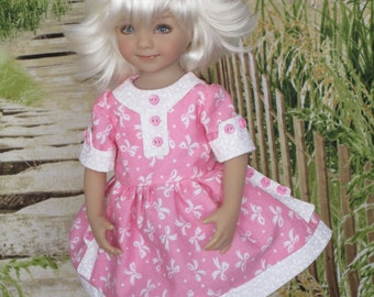 Pink School Dress made to fit 13 inch Little Darling