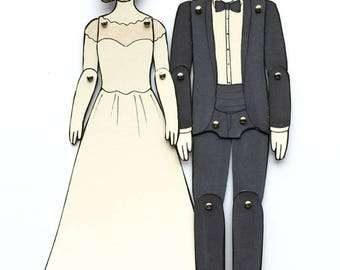 Paper Doll Portraits for Wedding, Engagement, or Anniversary Gifts  — Custom Order (please read 'item details' before purchase)