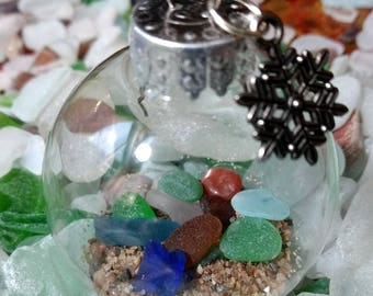 Lake Superior Beach Glass Christmas Ornament