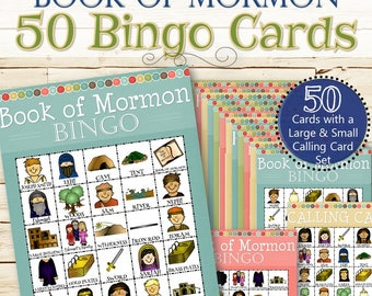 50 Book of Mormon Bingos - INSTANT DOWNLOAD