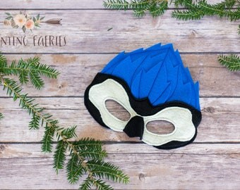Jace and Elaina the Blue Jay Mask for Costume or Pretend Play