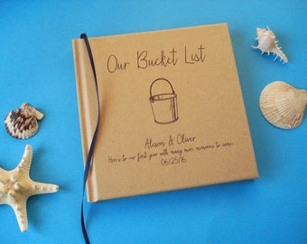 CUSTOM Our Bucket List First Anniversary Gift Journal · Our Wedding Anniversary Book · Our Bucket List Notebook · Paper Anniversary Gift