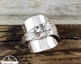 Lily Spoon Ring - Sterling Silver Spoon Ring - Whiting Lily Spoon Ring - Spoon Jewelry - Sterling Silver Ring- Demitasse Spoon Rings