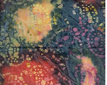 Tie Dye Batik Fabric, Batik Fabric, Abstract Print Fabric, Batik Quilt Fabric, Batik Craft Fabric, Fat Quarter F1388