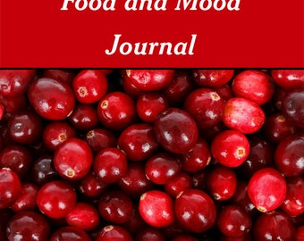 Food and Mood Journal | One Month Printable Journal | Daily Food Log | Instant Download | Health and Wellness | Food Diary