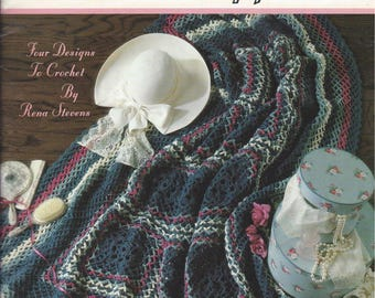 Crochet Pattern Leisure Arts More Victorian Afghans 2261 Copyrighted 1992 Never Used 4 Designs