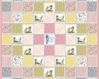 Holly Hobbie Quilt Kit~Little Girl or Baby's Nursery~Pink~Yellow~Blue~Fabric~QK#100