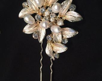 Bridal Rhinestone Hair Stick, Decorative Hairpin, Wedding Hairpin, Bridal Haripin (R99)