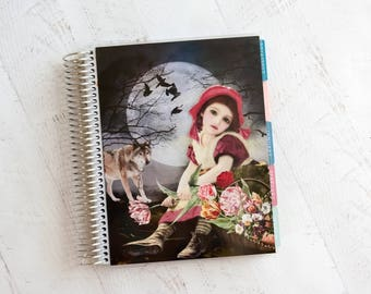Little Red Riding Hood - ECLP Compatible - Coil Bound Planner Cover - Laminated Planner Cover - Fits Erin Condren - EC Compatible Cover