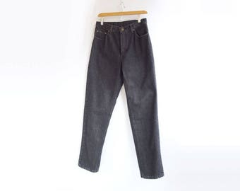 High Waisted Jeans 90s Jeans Mom Jeans Black Jeans Tapered Leg Jeans High Waisted Pants Black Pants Vintage Jeans M 30 Waist