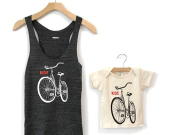 Matching Bike Family Shirts, Mother Son Matching Shirt Onesie, Mother Child Shirts, Mom Baby Matching Shirts, Mommy and me, Mothers Day gift