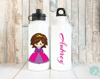Personalized Princess, Princess Gift, Personalized Water Bottle, Princess Water Bottle, Princess Party, Cute Water Bottle, Personalized Gift