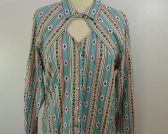 Vintage CIRCLE T by Marilyn Lenox western cowboy shirt