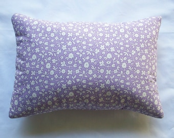 Lavender Buckwheat Decorative Throw Pillow - Vintage Style Print Aromatherapy Lumbar Neck Roll - Lavendar Nursing Support - Gift for New Mom