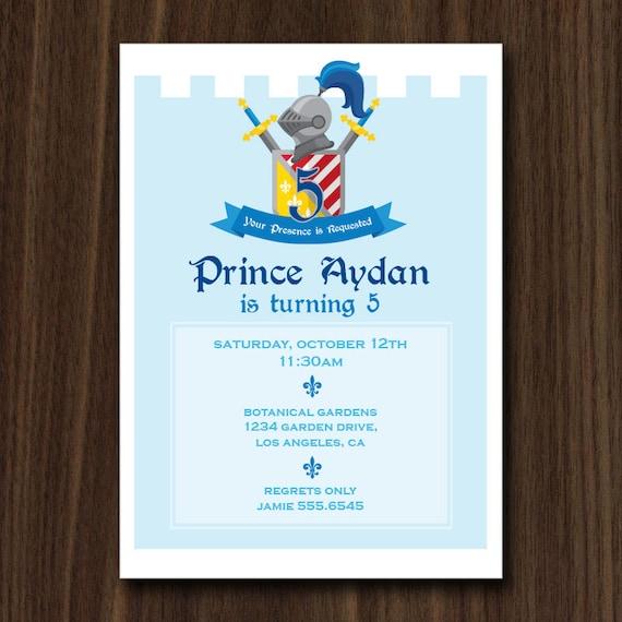 digital file invitation medieval castle printable invitation 5x7