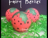 Fairy Berries - Strawberry Bath Bombs - Handmade Bath Bomb - Bath Fizzy - Fairy Bath Bomb -