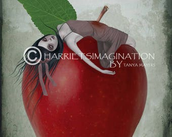 Snow White Art Print - Fairytale Art Print - Wall Decor - Death By Apple