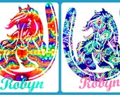 Horse Name Decal - Horse Decal - Horse Sticker - Laptop Decal - Tumbler Decal - Water Bottle Sticker - You Choose Size and Color