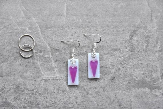 Pretty in Pink Fused Glas...