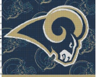 NFL St Louis Rams Flag Counted Cross Stitch Pattern
