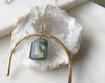 Metal + Stone Necklace