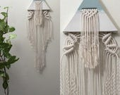 REFLECTION Turquoise and Alabaster Ceramic Macramé Wall Hanging
