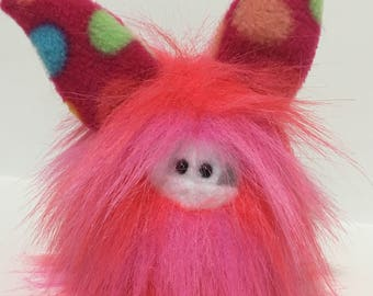 Cute Stuffed Monster - Monster Softie - Plush Monster Doll - Collectible Toy - Handmade Plush Animal - Handstitched Plush Toy - Fuzzling