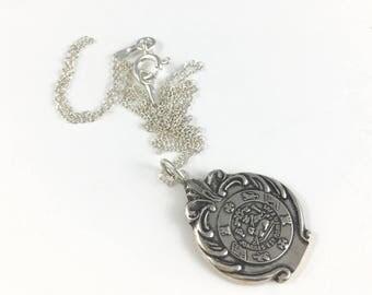 Puerto Rico Necklace, Spoon Jewelry, Puerto Rico charm, Puerto Rico Gift, Puerto Rico, Puerto Rico Seal, Puerto Rico necklace, Wife Gift