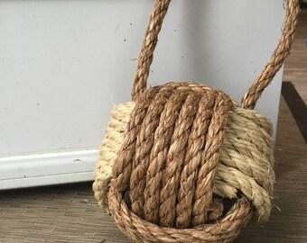 1 nautical rope doorstop nautical doorstop brown doorstop manila rope sisal rope - Sisal Rope