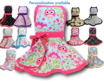 Girls apron, Kids apron, Personalized Girls Apron, Pretend Play Kitchen, girl's apron, child's apron, gift for girl