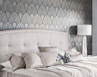 Empire Deco Allover Stencil - DIY Home Improvement - Better than Wallpaper