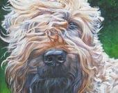 "WHEATEN Terrier dog art PORTRAIT canvas PRINT of LAShepard painting 8x10"""