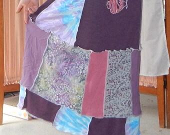 NEW Phish Patchwork Tie Dye Hemp T Skirt Batik Festival Hippie Shirt OOAK